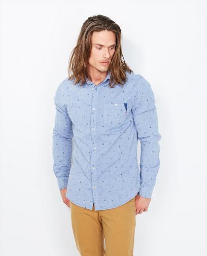 Lichtblauw jeanshemd